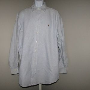 Ralph Lauren Dress Shirt Size 17 1/2 - 35 Blue